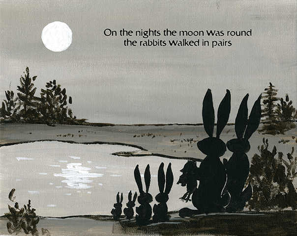 Old Stone Stairs 2 of 5 - On the nights the moon was round the rabbits walked in pairs.
